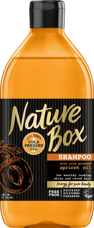 Шампунь для волос с абрикосовым маслом - Nature Box Apricot Oil Shampoo