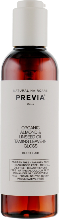 Укрощающий несмываемый блеск - Previa Almond&Linseed Oil Taming Leave-in Gloss