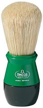 Помазок для бритья, 10104, зеленый - Omega — фото N1