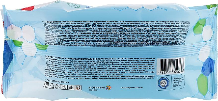 "Влажные салфетки с клапаном ""Antibacterial"" - Superfresh — фото N2"