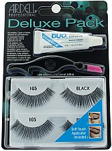 Духи, Парфюмерия, косметика Набор накладных ресницы - Ardell Deluxe Twin Pack Lashes #105 With Applicator