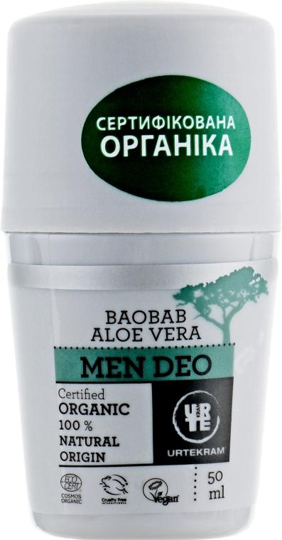 "Крем-дезодорант ""Баобаб и Алоэ Вера"" - Urtekram Aloe Vera Baobab Man Deo"