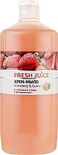"Духи, Парфюмерия, косметика Крем-мыло с увлажняющим рисовым молочком ""Клубника и гуава"" - Fresh Juice Strawberry&Guava"
