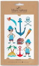 Духи, Парфюмерия, косметика Акварельные переводные тату - Miami Tattoos Pirate