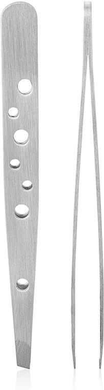 Пинцет для бровей скошенный, T-1253 - Rapira