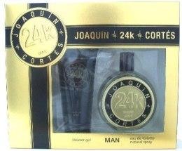 Духи, Парфюмерия, косметика Joaquin Cortes 24k Man - Набор (edt/100ml + ash/balm/150ml)