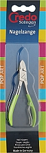 Духи, Парфюмерия, косметика Кусачки ногтевые, никелированные, 6262, салатовые - Credo Solingen Pop Art