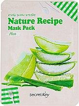 """Духи, Парфюмерия, косметика Маска для лица тканевая """"Алоэ"""" - Secret Key Nature Recipe Mask Pack"""