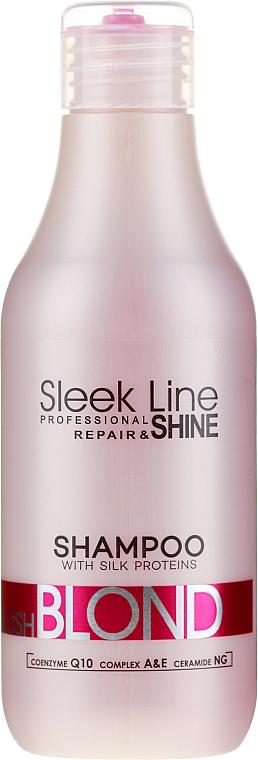 Шампунь для волос - Stapiz Sleek Line Blush Blond Shampoo