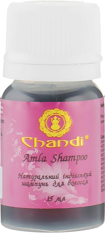 """Натуральный индийский шампунь """"Амла"""" для ломких волос и посеченных кончиков - Chandi Amla Shampoo (мини)"""
