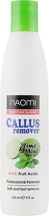 Средство от мозолей с лаймом и мятой - Naomi Foot Care System Lime and Mint Callus Remover