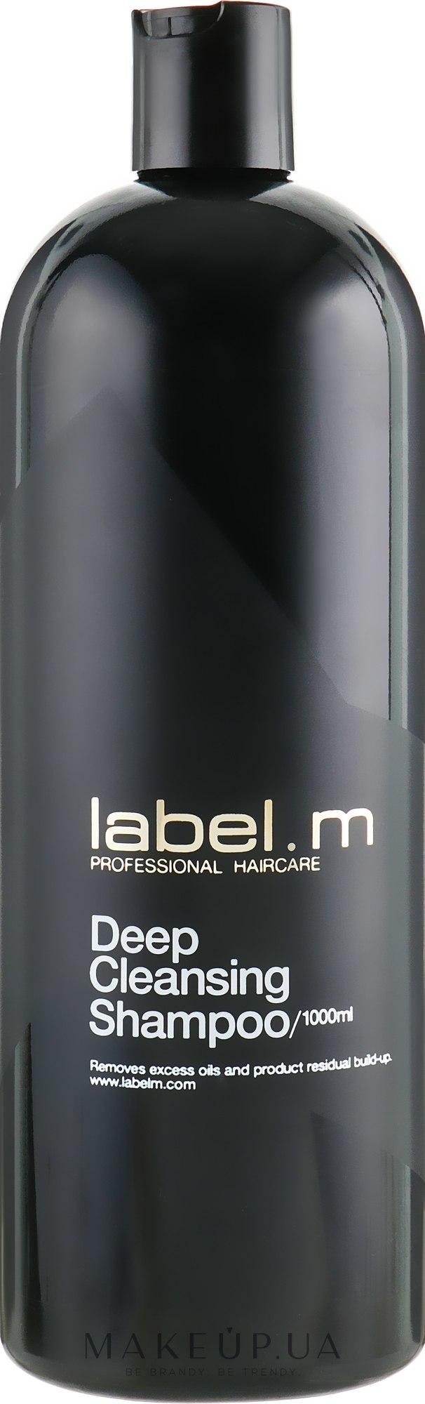 Шампунь Глубокая очистка - Label.m Cleanse Professional Haircare Deep Cleansing Shampoo — фото 1000ml