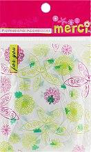 Духи, Парфюмерия, косметика Шапочка для окрашивания, MB2280, зеленые листочки - Merci