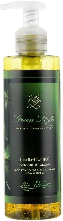 Гель-пенка увлажняющая для глубокого очищения кожи лица - Liv Delano Green Style Foam