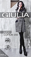 "Духи, Парфюмерия, косметика Колготки для женщин ""Lucky Cotton"" 200 Den, beige - Giulia"