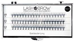 Духи, Парфюмерия, косметика Накладные ресницы - Lash Brown Premium Flare Silk Lashes Spectacular Long
