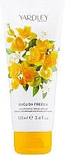 Духи, Парфюмерия, косметика Крем для рук - Yardley English Freesia Nourishing Hand Cream