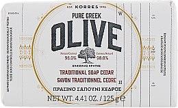 Духи, Парфюмерия, косметика Традиционное мыло с оливой и кедром - Korres Pure Greek Olive Green Soap Cedar