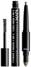 Карандаш для бровей 3 в 1 - NYX Professional Makeup 3-in-1 Brow Pencil — фото N1