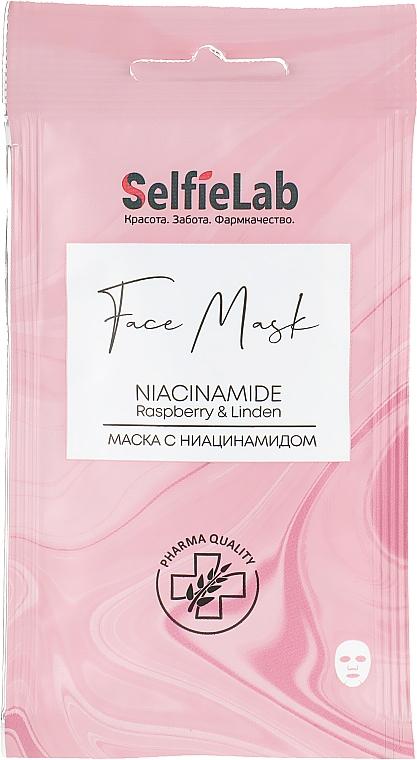 Тканевая маска для лица с ниацинамидом - Selfielab Face Mask Niacinamide
