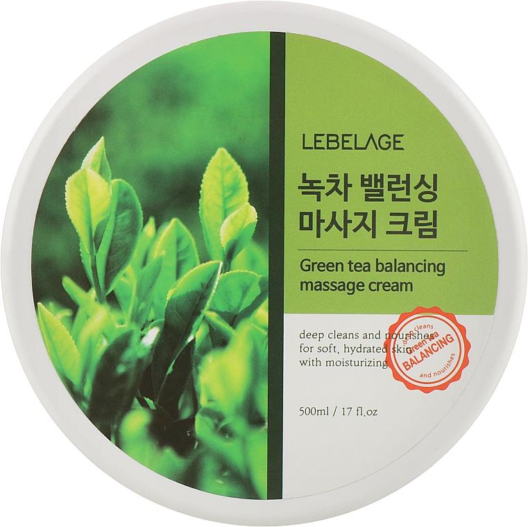 Массажный крем с зеленым чаем - Lebelage Green Tea Moisture Cleaning Massage Cream