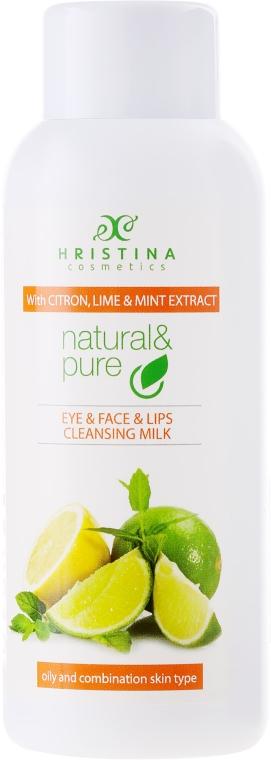 """Очищающее молочко """"Цитрон, лайм и мята"""" для комбинированной и жирной кожи - Hristina Cosmetics Cleansing Milk With Citron, Lime And Mint Extract"""