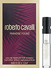 Духи, Парфюмерия, косметика Roberto Cavalli Paradise Found - Парфюмированная вода (пробник)