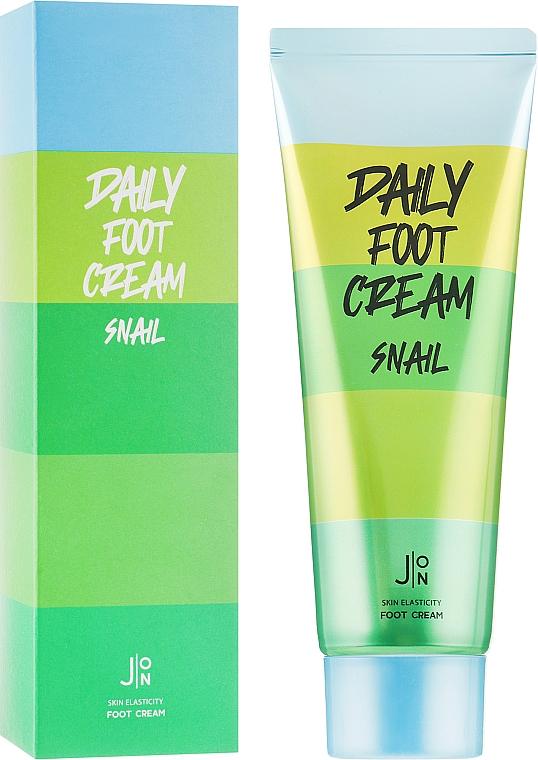 Крем для кожи ног с муцином улитки - J:ON Daily Foot Cream Snail