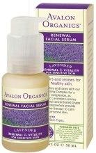 """Духи, Парфюмерия, косметика УЦЕНКА Омолаживающая сыворотка для лица """"Лаванда"""" - Avalon Organics Lavender Luminosity Renewal Facial Serum*"""