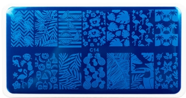 Пластина для стемпинга - NUB Stamping Plate C14