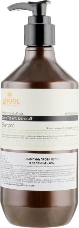 Шампунь против перхоти с зеленым чаем - Angel Professional Paris Provence Green Tea Shampoo