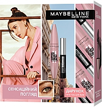 Духи, Парфюмерия, косметика Набор - Maybelline New York Lash Sensational Intense Black (mascara/9.5ml + brow/mascara/2.8ml)