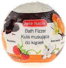 Духи, Парфюмерия, косметика Бурлящий шарик для ванны, зеленый - Belle Nature