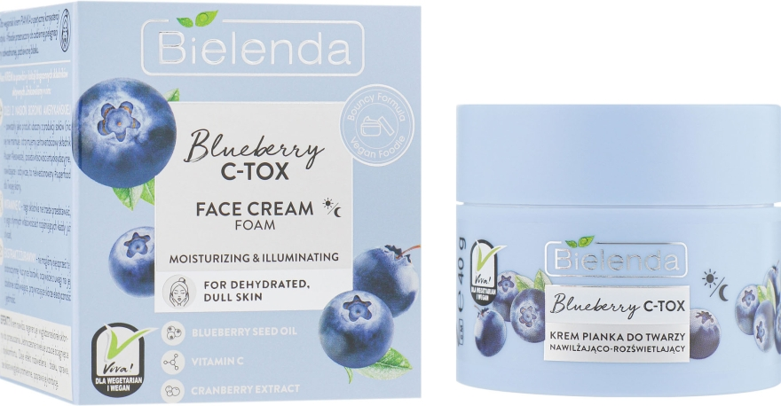 Крем-пенка для лица - Bielenda Blueberry C-Tox