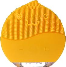 Духи, Парфюмерия, косметика Щетка для очищения лица BR-030, желтая - Lewer