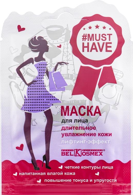 """Маска для лица """"Длительное увлажнение кожи лифтинг-эффект"""" - BelKosmex Must Have Lifting Mask"""