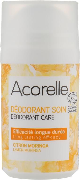 "Роликовый дезодорант-уход ""Лимон и моринга"" - Acorelle Deodorant Citron Moringa Roll On"