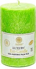 Духи, Парфюмерия, косметика Свеча из пальмового воска, 12.5 см, ярко зеленая - Saules Fabrika Luxury Eco Candle