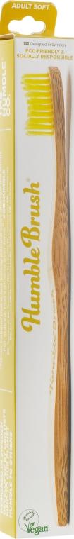 Зубная щетка, мягкая, желтая - The Humble Co.