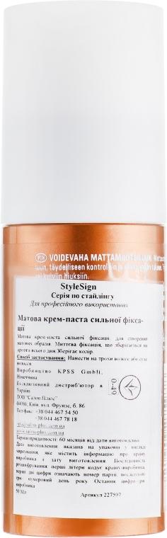 Матова крем-паста сильної фіксації - Goldwell Style Sign Texture Roughman — фото N2