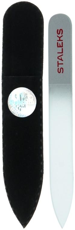 Пилочка хрустальная для ногтей, F4-12-90, серебристая - Staleks (9см)