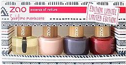 Духи, Парфюмерия, косметика Набор - Zao Limited Edition Christmas Nail Polish Box (nail/polish/3x8ml + cuticle/oil/8ml+ nail/file)