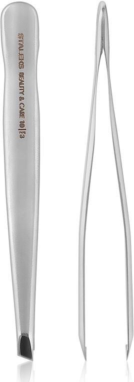 Пинцет для бровей, широкие скошенные кромки ТВС-10/3 - Staleks Beauty & Care 10 Type 3