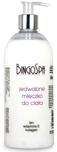 Шелковый лосьон для тела с леном, витамином Е, коллагеном - BingoSpa
