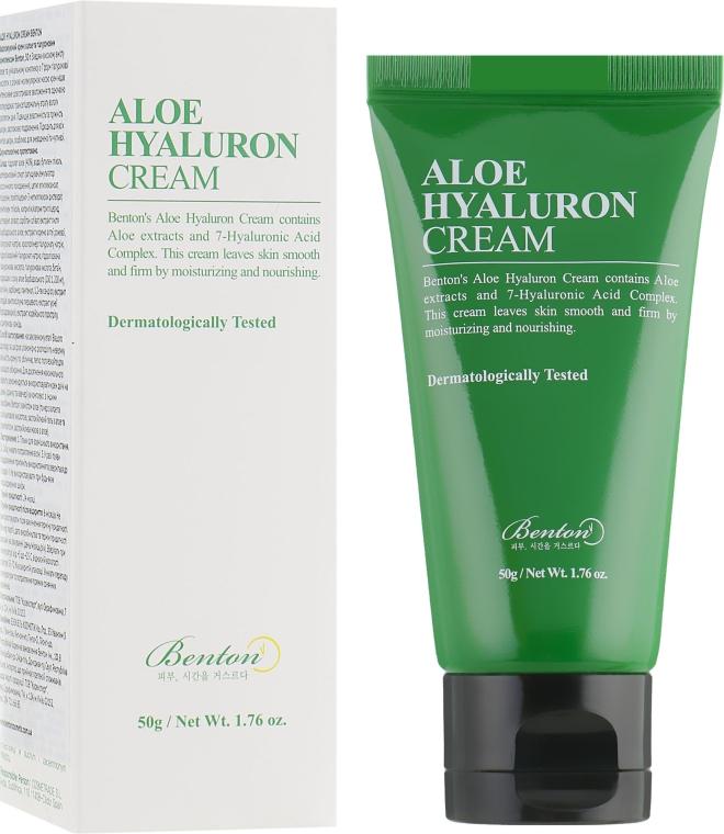 Увлажняющий крем для лица с алоэ и гиалуроновой кислотой - Benton Aloe Hyaluron Cream