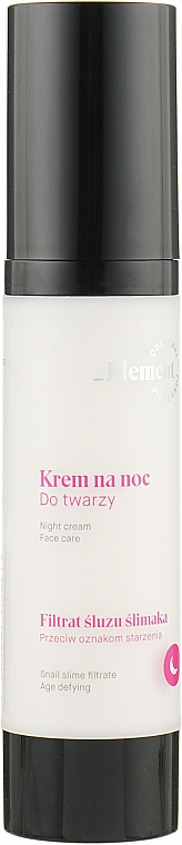 Ночной крем для лица с муцином улитки - _Element Snail Slime Filtrate Night Cream