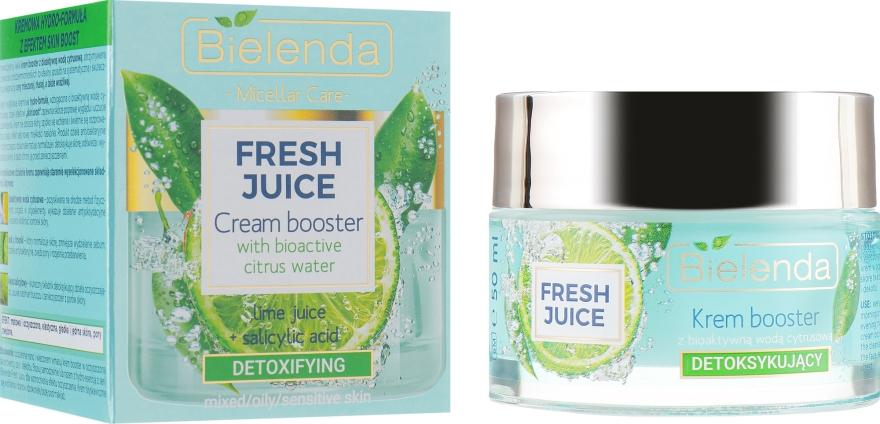 Детоксифицирующий крем-бустер для лица, с биоактивной цитрусовой водой - Bielenda Fresh Juice