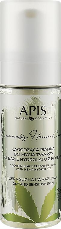 Успокаивающая очищающая пена для лица на основе гидролата конопли - APIS Professional Cannabis Home Care Soothing Face Cleaning Foam