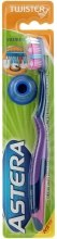 Духи, Парфюмерия, косметика Зубная щетка средней жесткости, фиолетово-малиновая - Astera Twister Toothbrush