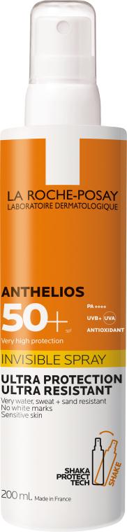 Ультралегкий солнцезащитный спрей для лица и тела SPF50+ - La Roche-Posay Anthelios Invisible Spray